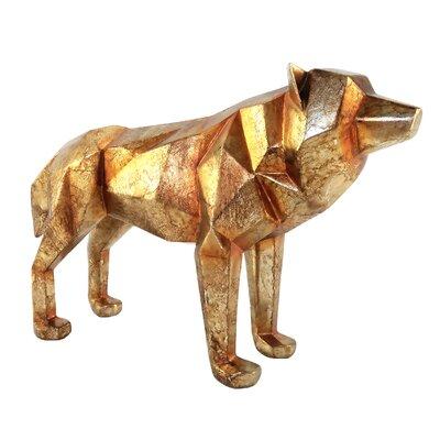 Brayden Studio Cubist Wolf Figurine