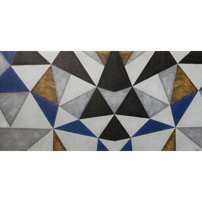Brayden Studio Triangulation Graphic Art on Canvas