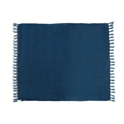 Feingold Linen Throw Color: Denim Blue