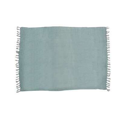 Feingold Linen Throw Color: Sky Blue
