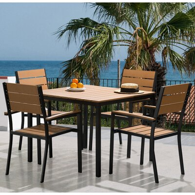 Hemmer Patio 5 Piece Dining Set