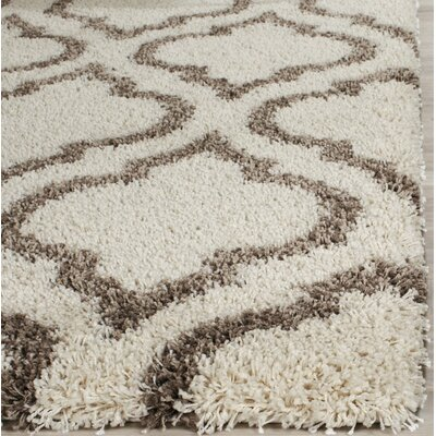 Melvin Brown/Beige Area Rug Rug Size: Rectangle 4 x 6