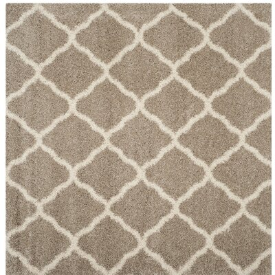 Humberto Shag Beige/Brown Area Rug Rug Size: Square 7'