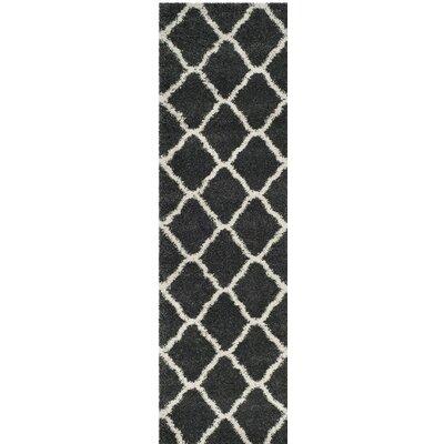 Melvin Shag Beige/Black Area Rug Rug Size: Runner 23 x 8