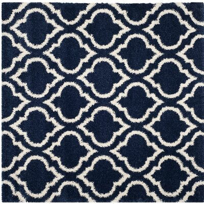 Hampstead Blue/Beige Area Rug Rug Size: Square 7