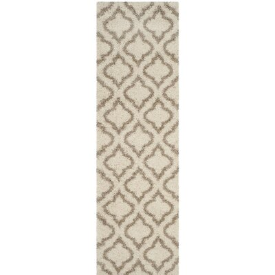 Hampstead Shag Brown/Beige Area Rug Rug Size: Runner 23 x 8