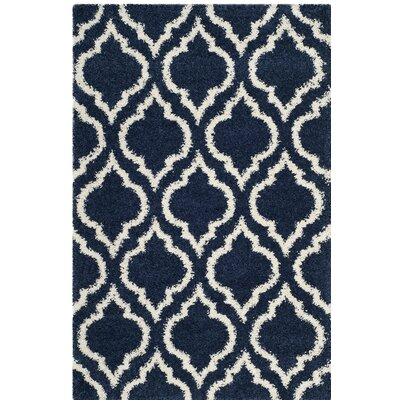 Melvin Blue/Beige Area Rug Rug Size: Rectangle 3 x 5