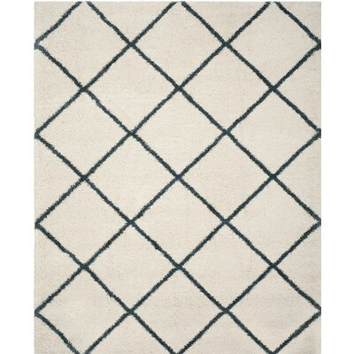 Hampstead Beige/Blue Area Rug Rug Size: 8 x 10