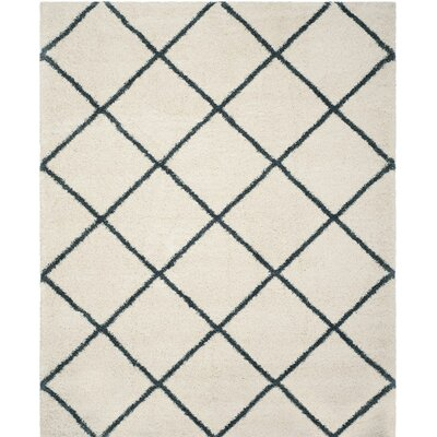 Hampstead Beige/Blue Area Rug Rug Size: 6 x 9