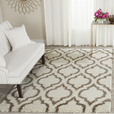 Melvin Shag Brown/Beige Area Rug Rug Size: Rectangle 8 x 10
