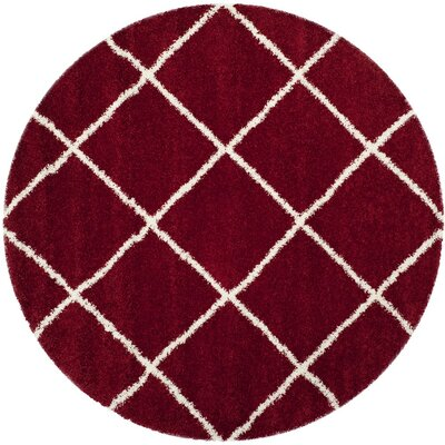 Humberto Shag Red/White Area Rug Rug Size: Runner 23 x 10