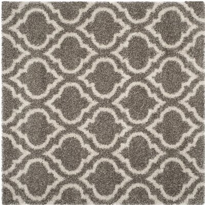 Melvin Gray/Beige Area Rug Rug Size: Square 7