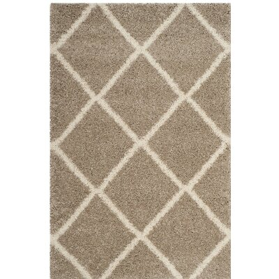 Hampstead Shag Brown/Beige Area Rug Rug Size: 51 x 76