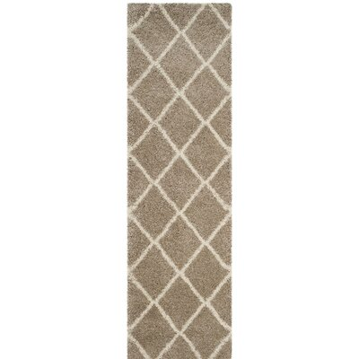 Hampstead Shag Brown/Beige Area Rug Rug Size: Runner 23 x 10