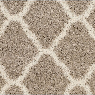 Melvin Shag Beige/Brown Area Rug Rug Size: Rectangle 9 x 12
