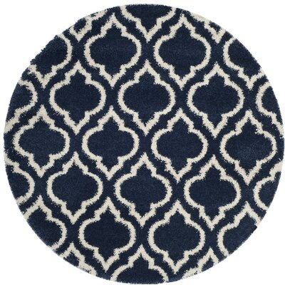 Hampstead Blue/Beige Area Rug Rug Size: 6 x 9