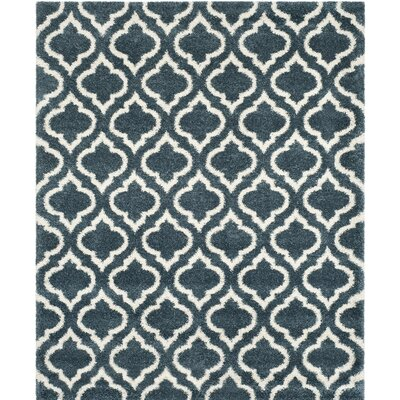 Melvin Shag Blue/Beige Area Rug Rug Size: Rectangle 6 x 9