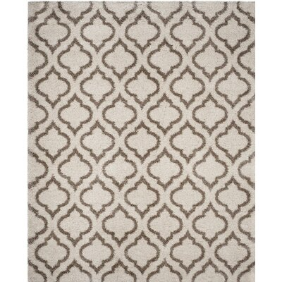 Hampstead Shag Brown/Beige Area Rug Rug Size: 8 x 10