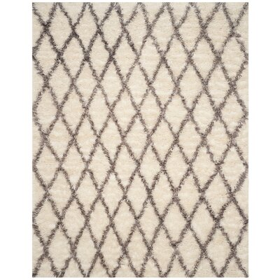Lohan Hand-Tufted Ivory/Gray Area Rug Rug Size: Rectangle 6 x 9