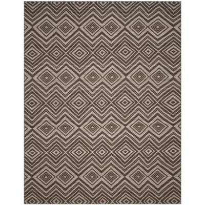 Sneyd Park Hand-Woven Brown Area Rug Rug Size: Rectangle 8 x 10