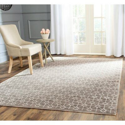 Darrow Hand-Knotted Light Brown Area Rug Rug Size: Rectangle 8 x 10