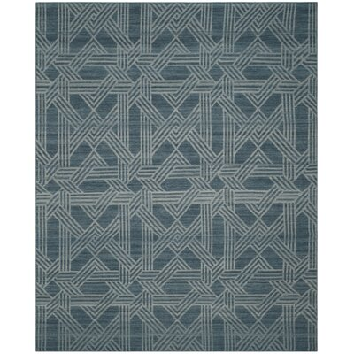 Delrio Hand-Woven Blue Area Rug Rug Size: 8 x 10