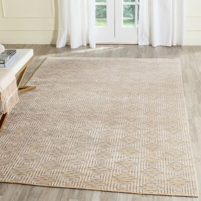 Darrow Hand-Knotted Sandstone Area Rug Rug Size: Rectangle 9 x 12