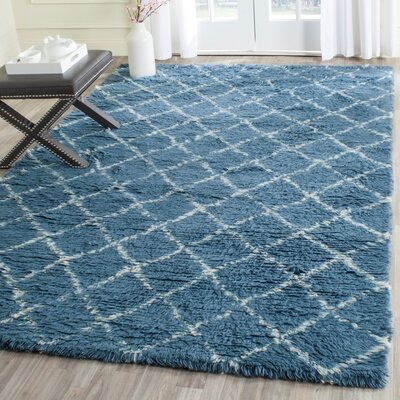 Lohan Hand-Woven Light Blue/Ivory Area Rug Rug Size: Rectangle 8 x 10