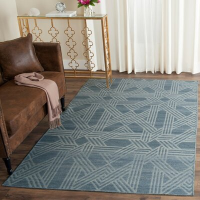 Delrio Hand-Woven Blue Area Rug Rug Size: Rectangle 4 x 6