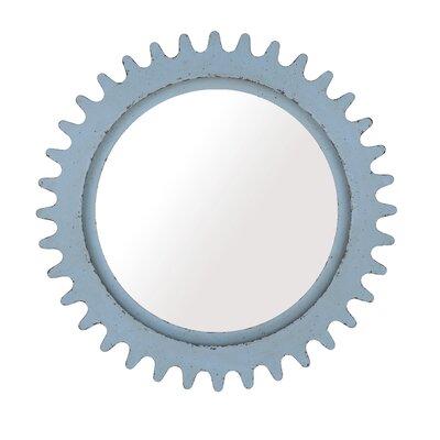 Gullickson Round Wall Mirror Finish: Blue