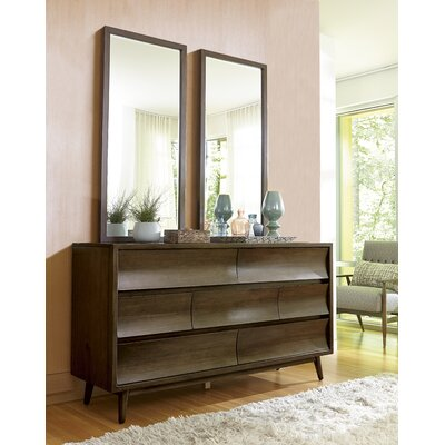 Gullickson 7 Drawer Dresser with Mirror