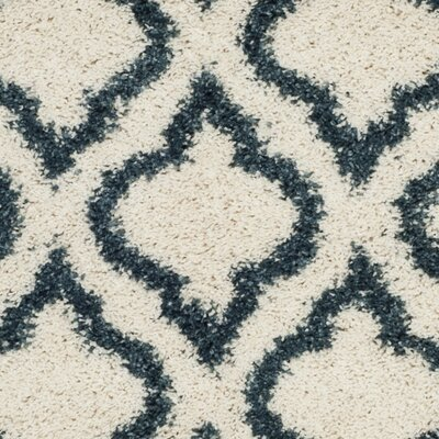 Melvin Shag Beige/Blue Area Rug Rug Size: Rectangle 9 x 12