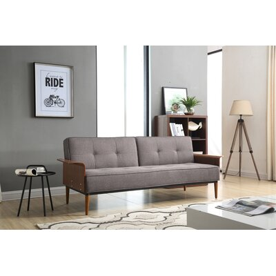 Toomer Convertible Sofa Color: Charcoal