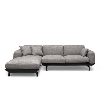 Depuy Sectional Upholstery: Dark Gray, Orientation: Left Hand Facing