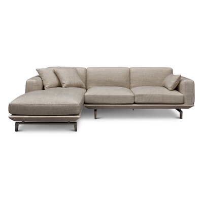 Depuy Sectional Upholstery: Beige, Orientation: Left Hand Facing
