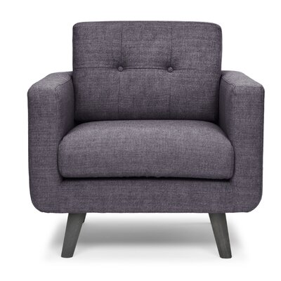 Depuy Arm Chair Upholstery Color: Plum
