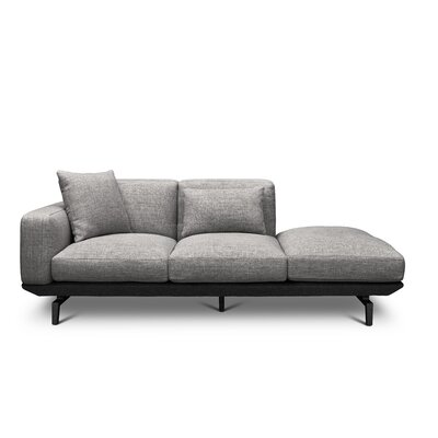 Depuy Chaise Lounge Color: Dark Gray