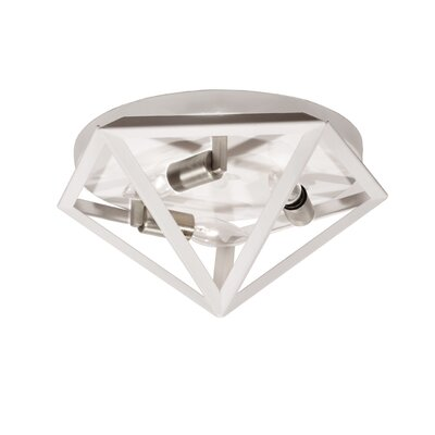 Ohalloran 3-Light Flush Mount Finish: Satin Chrome