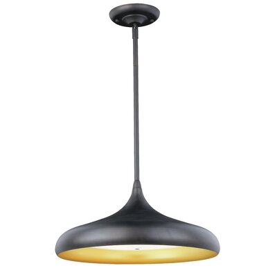 Grubbs 1-Light LED Inverted Pendant Finish: Black