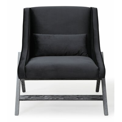 Gualtieri Armchair Upholstery: Black