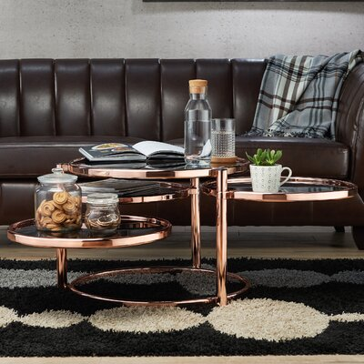 Guimond Coffee Table Finish: Rose Gold