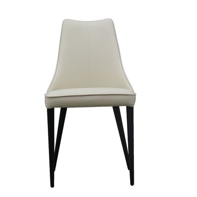 Bomar Upholstered Dining Chair (Set of 2) Color: Beige