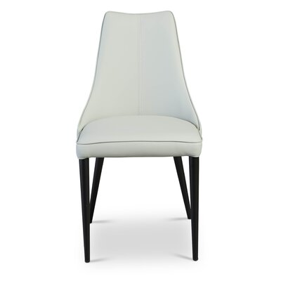 Bomar Parsons Chair (Set of 2) Upholstery: Faux Leather - White