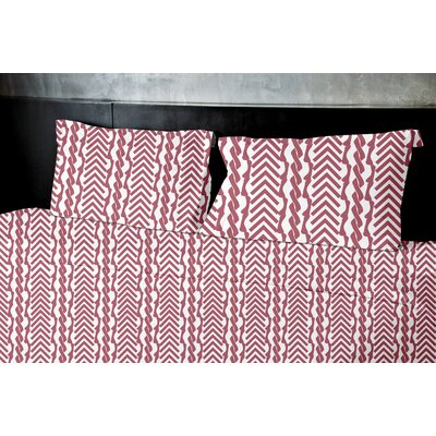 Burrow Duvet Set Size: Queen, Color: Red