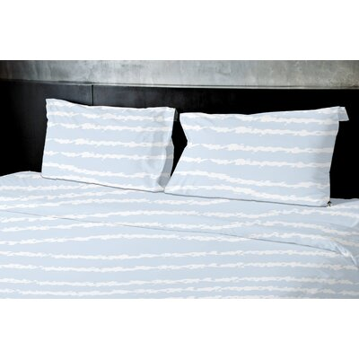 Convery Duvet Set Color: Blue, Size: Queen