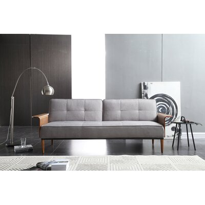 Toomer Convertible Sofa Color: Gray