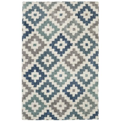 Haworth Diamond Head Beige/Blue Area Rug
