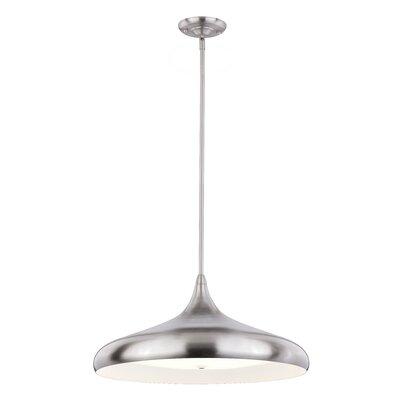 Chiasson 1-Light LED Inverted Pendant Finish: Silver