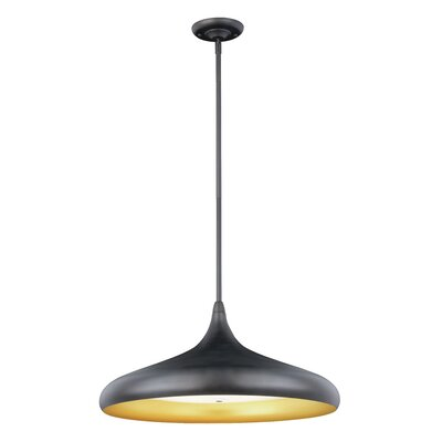 Chiasson 1-Light LED Inverted Pendant Finish: Black