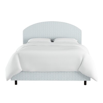 Bybee Curved Cotton Upholstered Panel Bed Size: Queen
